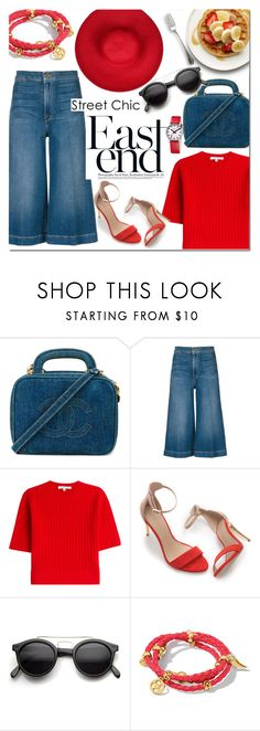 """Street Chic"" by alexandrazeres ❤ liked on Polyvore featuring Chanel, Frame Denim, Carven, Zara, Retrò, Henri Bendel, Mondaine, denim, fashionset and StreetChic"