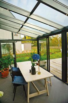Hay Chairs, Ikea Table, Willab Garden, Herringbone Tiles, Winter Garden