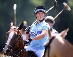 Zara raised eyebrows when she played in a charity polo match at The Rundle Cup at Tidworth Polo Club at three months pregnant, in July 2013.