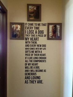 Seriously this is a must have when we build our home #dogquotes
