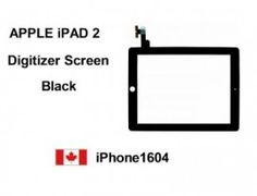 Black Apple iPad 2 Touch Screen Digitizer Replacement    Price = $66.50