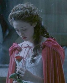 Emmy Rossum as Christine Daaé in The Phantom of the opera (2004).