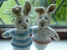 Rabbit Egg Cosies - Pattern by Little Cotton Rabbits