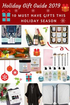 Holiday Gift Guide 2019: 10 Must Have Gifts This Holiday Season. Whether it's for the beauty junkie, your stressed out bestie or the health enthusiast, I've got you covered! #ad