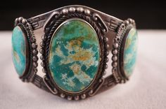 Vintage Maisels Indian Trading Post Sterling Silver Turquoise Bracelet