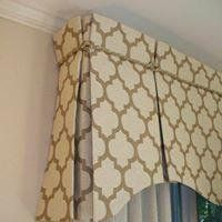 Valance Patterns Design : Custom Window Valance Ideas With Creative Rope Motif Valences For Windows, Window Cornices, Valance Window Treatments, Kitchen Window Treatments, Custom Window Treatments, Curtains With Blinds, Window Coverings, Window Curtains, Bedroom Curtains