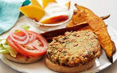 Bean-Kale Burgers with Sweet Potato Wedges Recipe by Food Network Kitchens