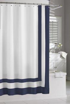 Gaines Luxury Frame Cotton Shower Curtain