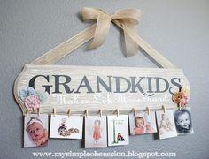 Grandkids Photo Sign