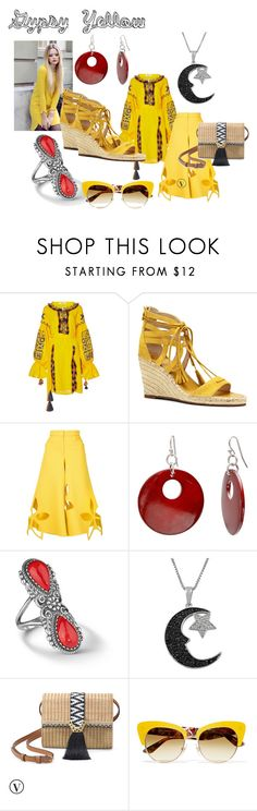 """GYSPY YELLOW"" by debbie-l-garrison on Polyvore featuring March11, Vince Camuto, Rosie Assoulin, Mixit, Jewel Exclusive, Stella & Dot and Dolce&Gabbana"