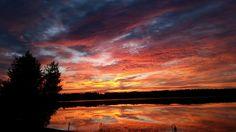 Sunrise at sunset lake ashburnham ma .our house peter robichaud