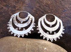 Sufi silver earring by Nishiibo on Etsy