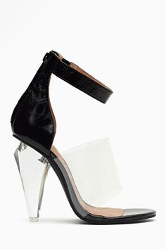 fe5f6a102133 Jeffrey Campbell Not There Sandal – Black Shoe Gallery