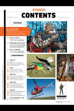 Outdoor life magazine - contents