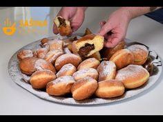 Punjene krafne krofne recept Stuffed Donuts Recipe - Sašina kuhinja - YouTube Donut Recipes, Dessert Recipes, Desserts, Bread And Pastries, Pretzel Bites, Donuts, Food Photography, Avocado, Cake