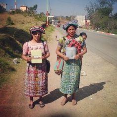 sisters k'iches (mayan languge) enjoying preaching in guatemala