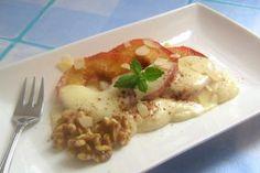 Apfelringe mit Marzipan-Creme