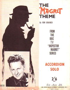 The Maigret Theme Sheet music for Accordion Solo 1963 by Ron Grainer