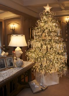Crystal Tree~~ Arms Museum, Youngstown, Ohio Victorian Christmas ~ Sooo beautiful!