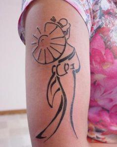 Simple Geisha Tattoos Designs And Meaning For Girl -Readmore : http://tattoosclick.com/geisha-tattoo-designs