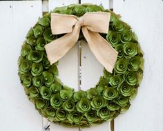 Green Wood Curl Wreath Wreath St. Patricks by TheBlaithinBlairShop