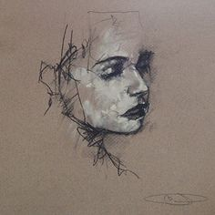 guy denning - a drawing a day: Burning the letters