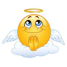 Showcase your angelic side whenever you message with this darling angel emoji.