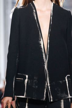PAINT YOUR CLOTHES BLACK // Proenza Schouler Spring 2014