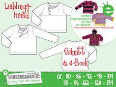 Nähanleitungen Kind - Lieblings-Hemd Gr. 80-134 Pulli Schnitt & e-Book - ein Designerstück von Die_Erbsenprinzessin bei DaWanda