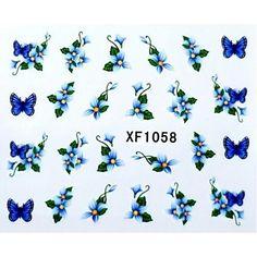 water transfer printen nagel stickers xf1058 - EUR € 1.93