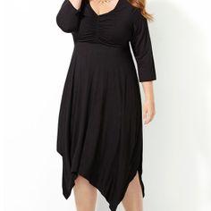 Smocked Sharkbite Dress-Plus Size Dress-Avenue
