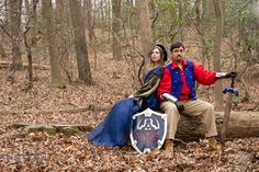 Engaged guy and his fiancée holding Zelda sword and shield. Renaissance Costume Cosplay fun theme pre-wedding engagement photo session at Ma. Renaissance Wedding, Renaissance Costume, Wedding Engagement, Engagement Session, Engagement Photos, Zelda Sword, Photo Sessions, Wedding Things, Wedding Stuff