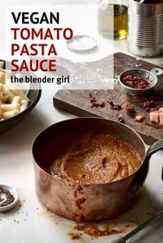 Healthy Recipes : Vegan Pasta Sauce | Vegan Pizza Sauce | The Blender Girl #Recipes