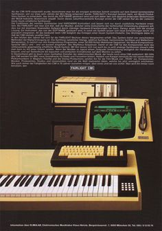 Fairlight CMI, one layer keys ~ in more pretty yellow enclosure than usual, 1983