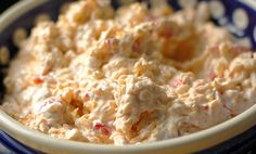 A delicious pimento cheese recipe with a hint of spiciness. This spread is perfect for parties served as an appetizer or spread on a sandwich.