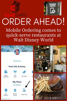 Make it simple tip for Walt Disney World: order your meal while in line! Mobile ordering comes to the 20 restaurants throughout the Disney World. More in ConciEARS newest blog post.