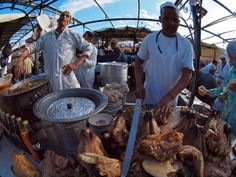 Locals extract and sell the brains of cooked goats at Djemaa el Fna square, in Marrakech, Morocco (@Alex Torrenegra) | Flickr - Photo Sharing!
