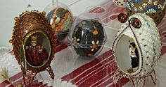 zdobení kraslic Easter Eggs, Captain Hat, Wire, Beads, Beading, Bead, Pearls, Seed Beads, Beaded Necklace