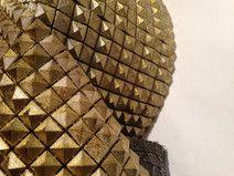Borte GOLD Nieten Kunststoff (9,5 cm) ab 1Meter