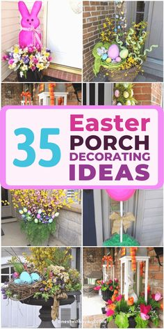 Need innovative Easter porch decorating ideas? No need to spend hundreds of dollars. Check our article for creative ideas that you can finish in no time. Easter Tree, Easter Wreaths, Easter Décor, Easter Ideas, Easter Projects, Easter Crafts, Porch Decorating, Decorating Ideas, Craft Ideas