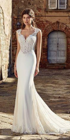 eddy k 2019 ek cap sleeves sweetheart neckline heavily embellished bodice sheath fit and flare wedding dress chapel train (31) mv -- Eddy K. 2019 Wedding Dresses