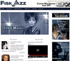 Fisk Jazz is a Unique Jazz Information and News Page presenting Jazz and Neo-Soul from the Classics to Crossover. http://www.fiskjazz.com/  ***Design by http://www.fineartandgraphicsdesign.com
