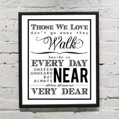 Those We Love Don't Go Away They Walk Beside Us door VinylLettering, $10.99
