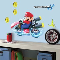 Popular Characters Mario Kart 8 Wall Decal