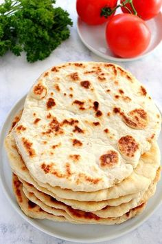 2-Ingredient Flatbread Recipe - easy soft flatbread made with self-rising flour, natural sour cream and no yeast. Perfect for wraps, in place of pizza dough or dipped in curry.