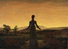 """Frau vor der untergehenden Sonne (Woman Before the Setting Sun)"" - Caspar David Friedrich, 1818. Museum Folkwang, Essen"