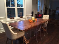 Custom, Reclaimed Wood Double Pedestal Trestle Table Built By Concepts  Created In Staunton, VA