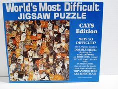 Cats Edition - Worlds Most Difficult Jigsaw Puzzle - 529 Pieces - Double Sided  #BuffaloGames..... Visit all of our online locations..... www.stores.ebay.com/ourfamilygeneralstore ..... www.bonanza.com/booths/Family_General_Store ..... www.facebook.com/OurFamilyGeneralStore