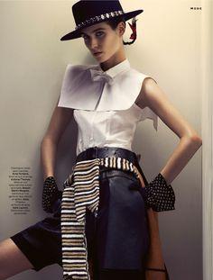 """Une Tenue Olé Olé""   Model: Manon Leloup, Photographer: Toby Knott, Stylist Magazine, December 2014"