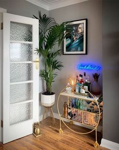 Luxe Round Bamboo Drinks Trolley styled by can find Drinks trolley and more on our website.Luxe Round Bamboo Drinks Trolley styled by Home Bar Decor, Bar Cart Decor, Diy Bar Cart, Bar Home, Ikea Bar Cart, Apartment Bar, Apartment Living, Chic Apartment Decor, Apartment Ideas